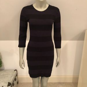 French Connection blue and black striped dress